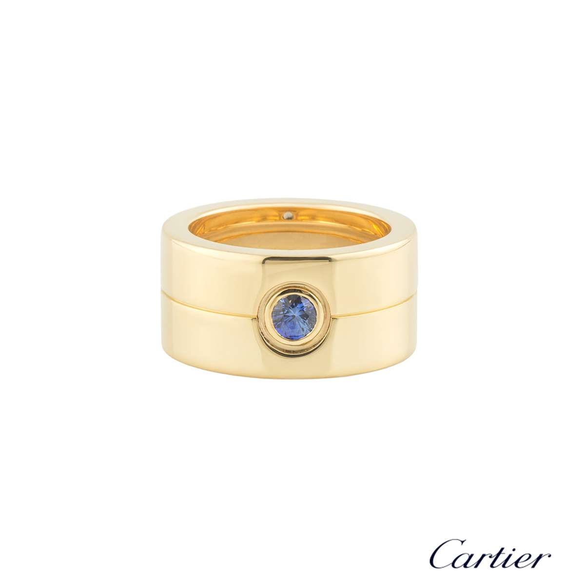Cartier Yellow Gold Sapphire Band Ring